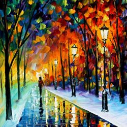 Frozen Path Oil Paintings Modern Canvas Wall Art Decor For Home Decoration Palette Knife On Canvas 24 X 30 In Unframed