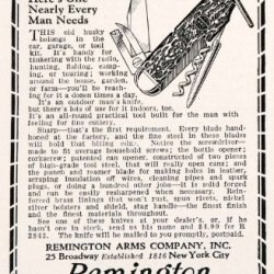 1928 Ad Remington Arms Swiss Army Knife Blades Tools Cutlery Personal Protection - Original Print Ad