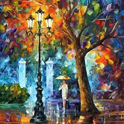 Original Painting Night Aura Painting Contemporary Artwork Knife Painting Oil Painting Wall Art Canvas Unframed Painting 24 X 30 In 60 X 75 Cm