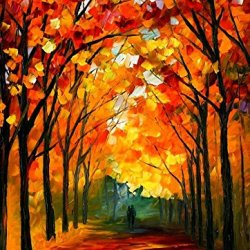 Beatifuly Palette Knife Paintings Hand Painted Oil Painting On Canvas Wall Decor Home Decoration (Firewell To Autumn) - 24 X 30 Inch , Unframed