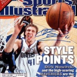 Dirk Nowitzki Autographed Signed Si Magazine Dallas Mavericks #X65598 - Psa/Dna Certified - Autographed Nba Magazines