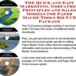 The Quick And Easy Marketing, Godfather Principles And Sales Models For Paper Mache Tools Biz 3 Cd Package