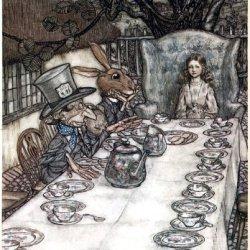 Window Cling Arthur Rackham Alice In Wonderland A Mad Tea Party