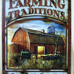 Farming Traditions Generation To Generation Distressed Retro Vintage Tin Sign