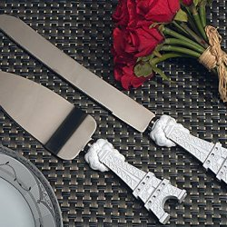 Elegant White Paris Collection Wedding Cake And Knife Set From Favoronline