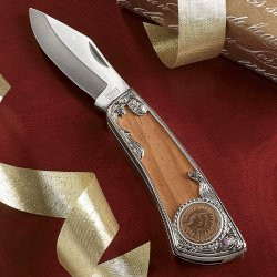 The Swiss Colony 100-Year-Old Indian Head Penny Pocket Knife
