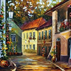 Decorative Room (Unframe And Unstretch) 100% Hand-Painted Palette Knife Oil Painting On Canvas,Hot Noon,40 X 30 Inch