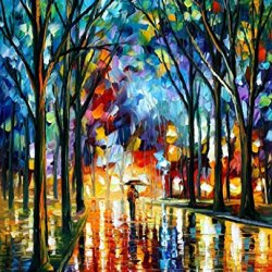 Original Painting Winter Alley Painting Contemporary Artwork Knife Painting Oil Painting Wall Art Canvas Unframed Painting 30 X 36 In 75 X 90 Cm