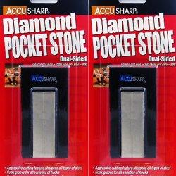 Accusharp Diamond Pocket Stone Knife Sharpener 2 Pack