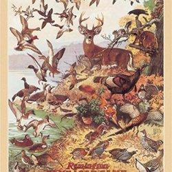 Remington Game Load Deer Duck Hunting Retro Vintage Tin Sign