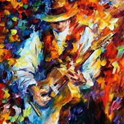 Pallet Knife Oil Painting The Guitar Rock And Roll Home Decor Wall Art On Canvas 12 X 16 Unique Style Of Painting Stunning Colors