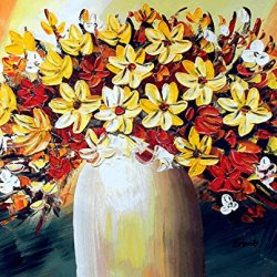 Xm Art-Charming Flower Palette Knife Landscape Oil Painting On Canvas Wall Art Deco Home Decoration(Unstretch And No Frame)