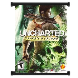 "Uncharted: Drakes Fortune Game Fabric Wall Scroll Poster (16""X21"") Inches"