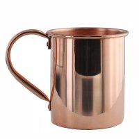 Solid Copper Moscow Mule Mug - 16oz Authentic Moscow Mule Mugs with No Inner Lining