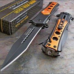 Tac-Force Emt Orange Seat Belt Glass Breaker Rescue Knife