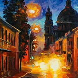 Modern Art Canva Busy Light Painting Knife Paintng Wall Art Canvas Unframed Painting 30X36In/75X90Cm