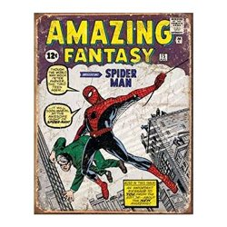 Amazing Fantasy Spiderman Retro Tin Sign