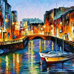 100% Oil Painting Unframed Evening River, St. Petersburg Home Decoration Modern Knife Painting On Canvas 48 X 36 In 120 X 90 Cm