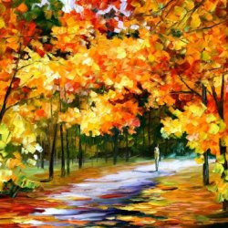 Leonid Afremov The Path Of Sun Beams Palette Knife Contemporary Impressionist Fine Art Oil Painting On Canvas, 40 By 30-Inch