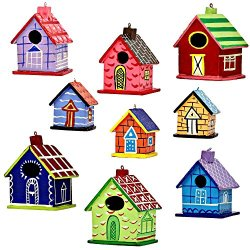 Set Of 9 Home Sweet Home Indian Paper Mache Valentine Ornaments