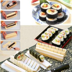 Abco Tech Super Sushi Maker Miracle Mold Sushi Maker Prepare Heart Shaped Sushi As Well As Large/Small Square Shaped Sushi At Home