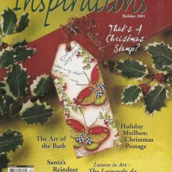 Inspirations Magazine Holiday 2001 - That'S A Christmas Stamp? Holiday Mailbox: Christmas Postage, The Art Of The Bath, Santa'S Reindeer, Lessons In Art: The Leonardo Da Vinci Collection