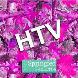 """Pink Tree Camo Pattern Htv Heat Transfer Vinyl 12""""X15"""" Hunting Tree Camouflage For Shirts"""