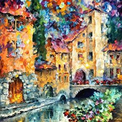 The Window To The Past Modern Canvas Art Wall Decor Palette Knife Oil Painting Wall Art 30 X 40 In Unframed