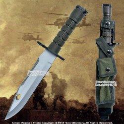 Military M9 Combat Fighting Knife M9 Style W/ Sheath Fixed Blade Zombie Hunter