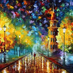 Different Palette Knife Paintings Hand Painted Oil Painting On Canvas Wall Decor Home Decoration (Gold Winter) - 40 X 30 Inch , Unframed