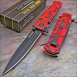 Tac-Force Speedster Red Skull Camo Knife New