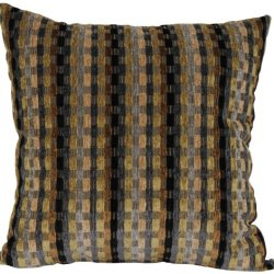 Brentwood Counter Culture Chenille 18-Inch Knife Edge Pillow, Black