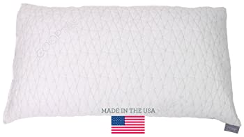 Adjustable Shredded Memory Foam Pillow with Viscose Rayon Cover derived from Bamboo