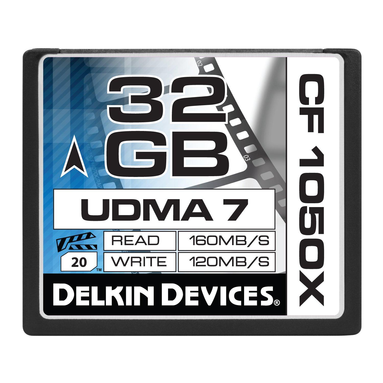Delkin 32GB Compact Flash 1050x