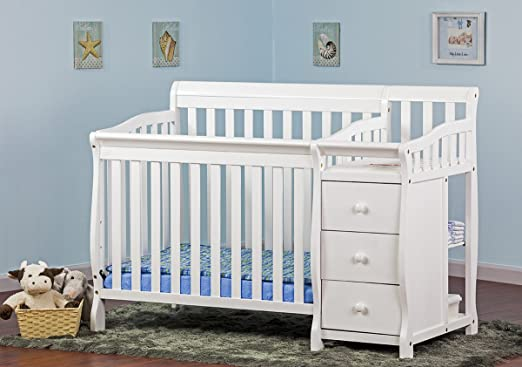 Superieur Dream On Me Jayden 4 In 1 Convertible Mini/Portable Crib With Changer, White