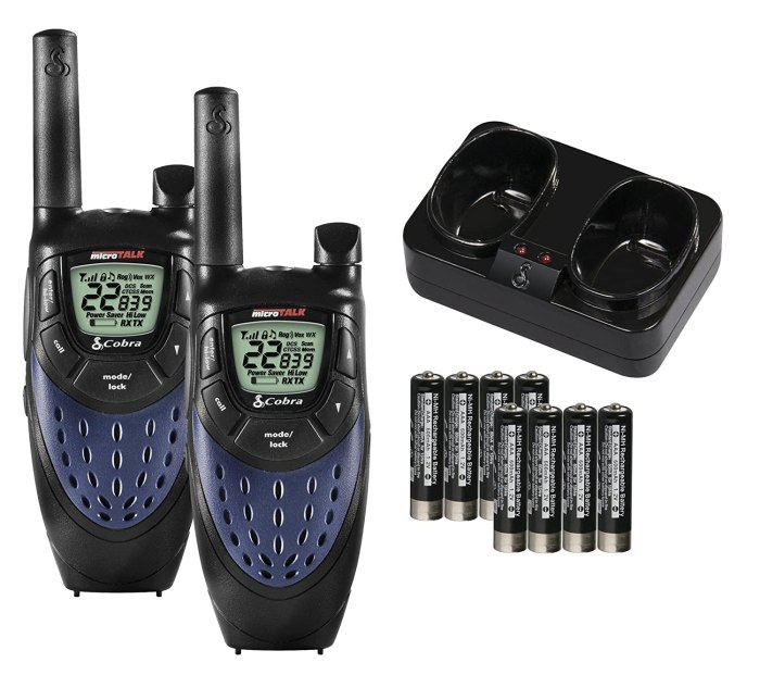 Cobra Walkie-Talkies Two way communication for helping back into spots, or even communicate on a hike are pretty essential RVing gear!