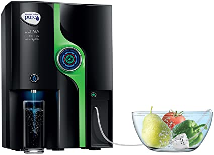 Pureit Ultima 10-Litre RO + UV Water Purifier with Oxy Tube (Black)