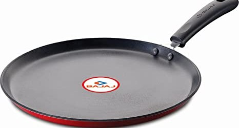 Bajaj Induction Base Non-Stick Flat Tawa, 25cm