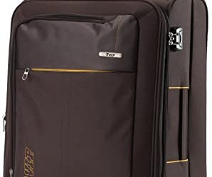 VIP Neon Strolly Exp 4 wheel Nylon Brown Softsided Carry-On (STNEO55WBRN)
