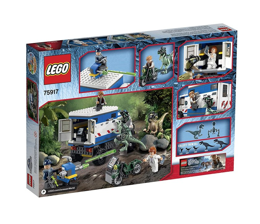 Lego jurassic world raptor rampage 75917 building kit for Lego world craft