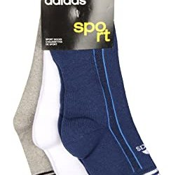 Adidas Half Cushion Quarter Socks AD417 Pack of 3