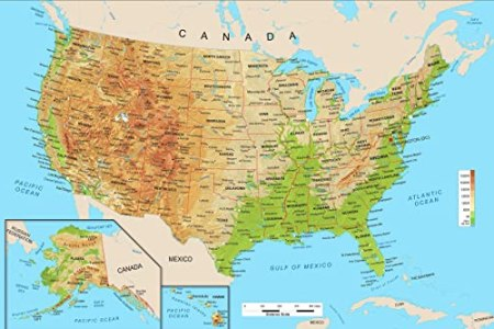 topographic map of the united states for kids images