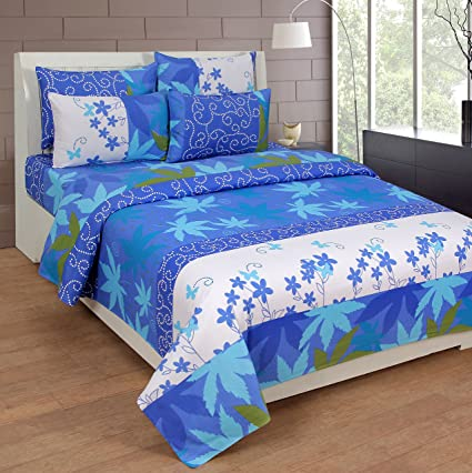 Paisa worth cotton 150TC Double Bedsheet with 2 pillow cover