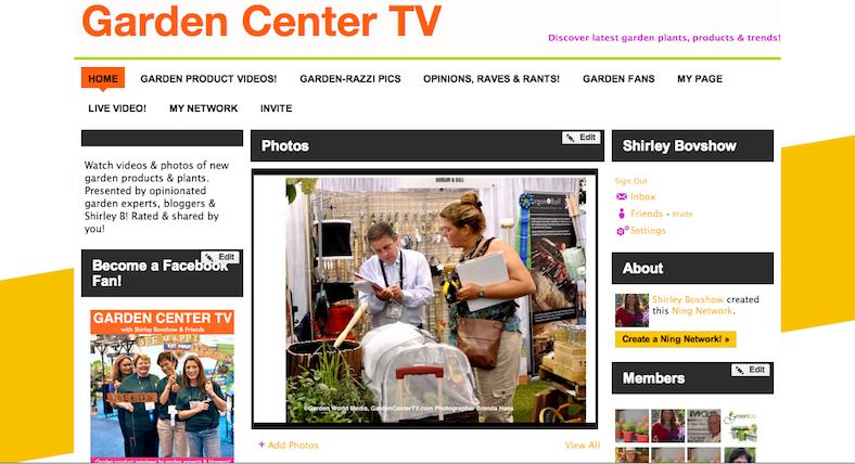 Garden Center TV website garden product previews