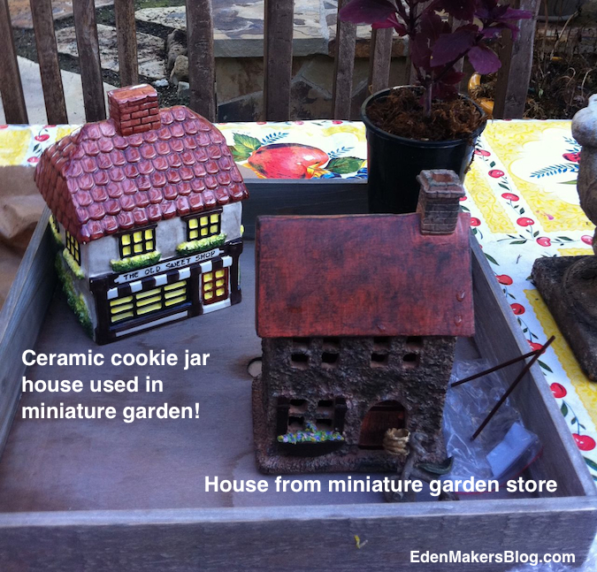 Ceramic-cookie-jar-house-for-miniature-landscape by Shirley Bovshow