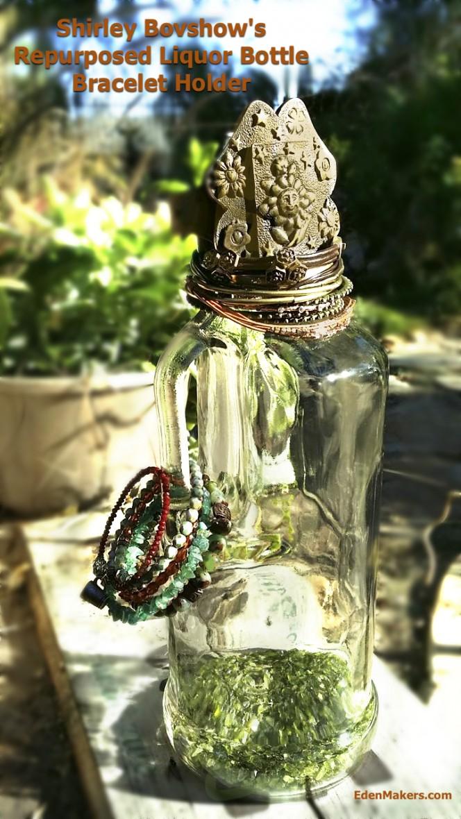 liquor-bottle-repurposed-bracelet-jewelry-holder-tree-craft-edenmakers-blog