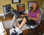 Shirley bovshow image on recumbent bicycle for weight loss