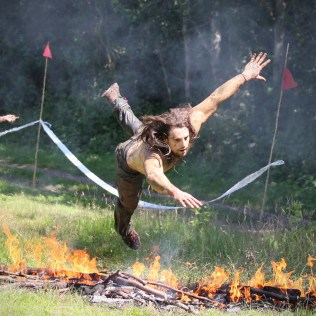 Crossing Plains of Fire in Spartan Race 2012. Photo by Epic Action Imagery.