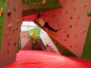 Climbing at Reading Climbing Centre