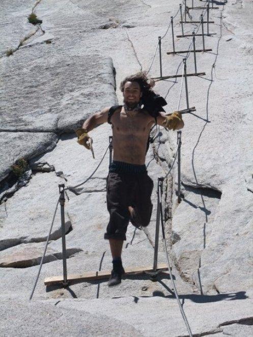 Descending Half Dome, 2008